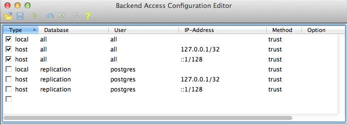 PostgreSQL security — OpenGeo Suite 4 8 User Manual
